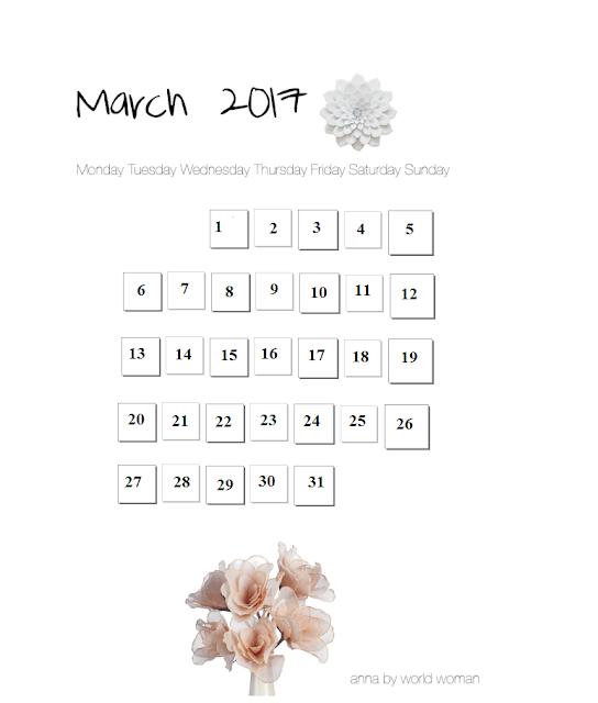 Card Calendar 2017