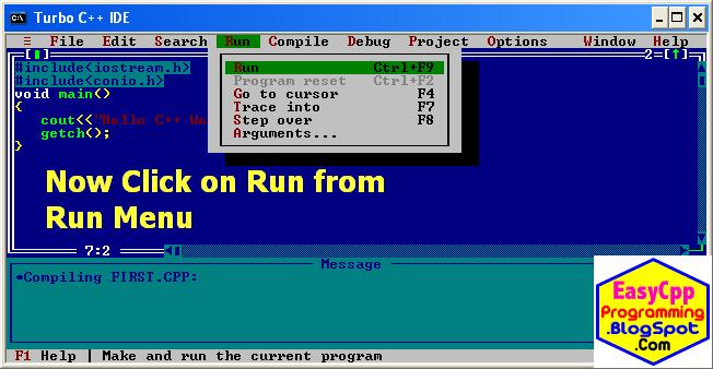 Run or execute C++ program