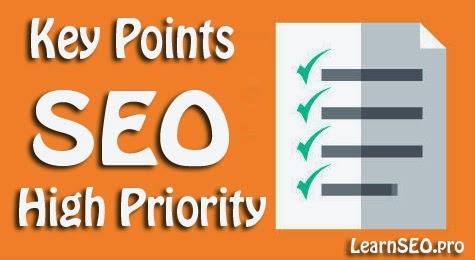 high seo key points