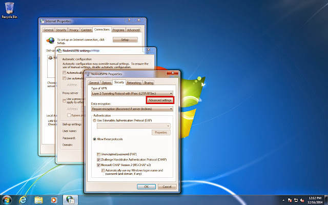 Cara Setting Pengaturan Internet VPN Windows 7