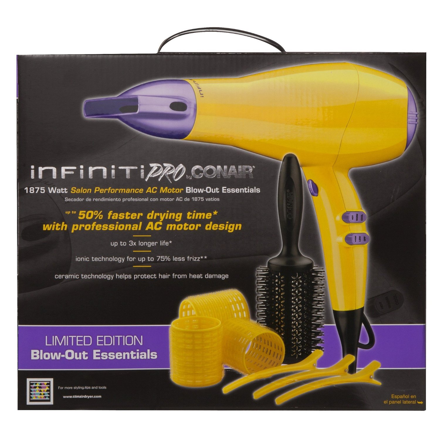 infiniti with by ceramic canada conair en comb detangling walmart infinity full ip hair dryer drying tourmaline brush and size pro