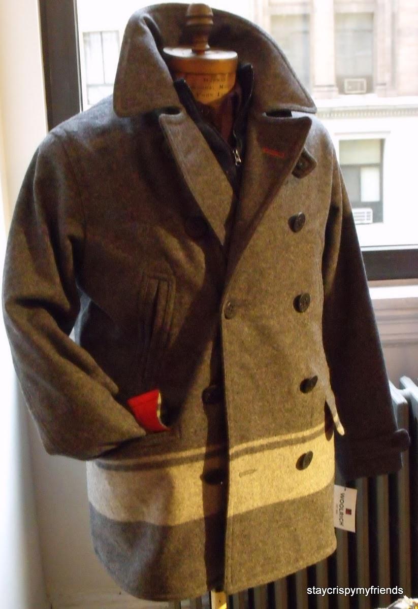 2a4662e954b Dock worker pea coat made in usa with woolrich mill wool JPG 823x1200 Woolrich  dock coat