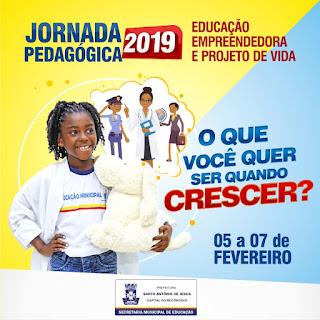 SAJ: Educação: Prefeitura realiza Jornada Pedagógica 2019