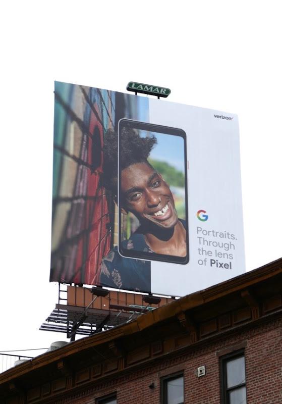 Portraits lens Google Pixel 2 billboard