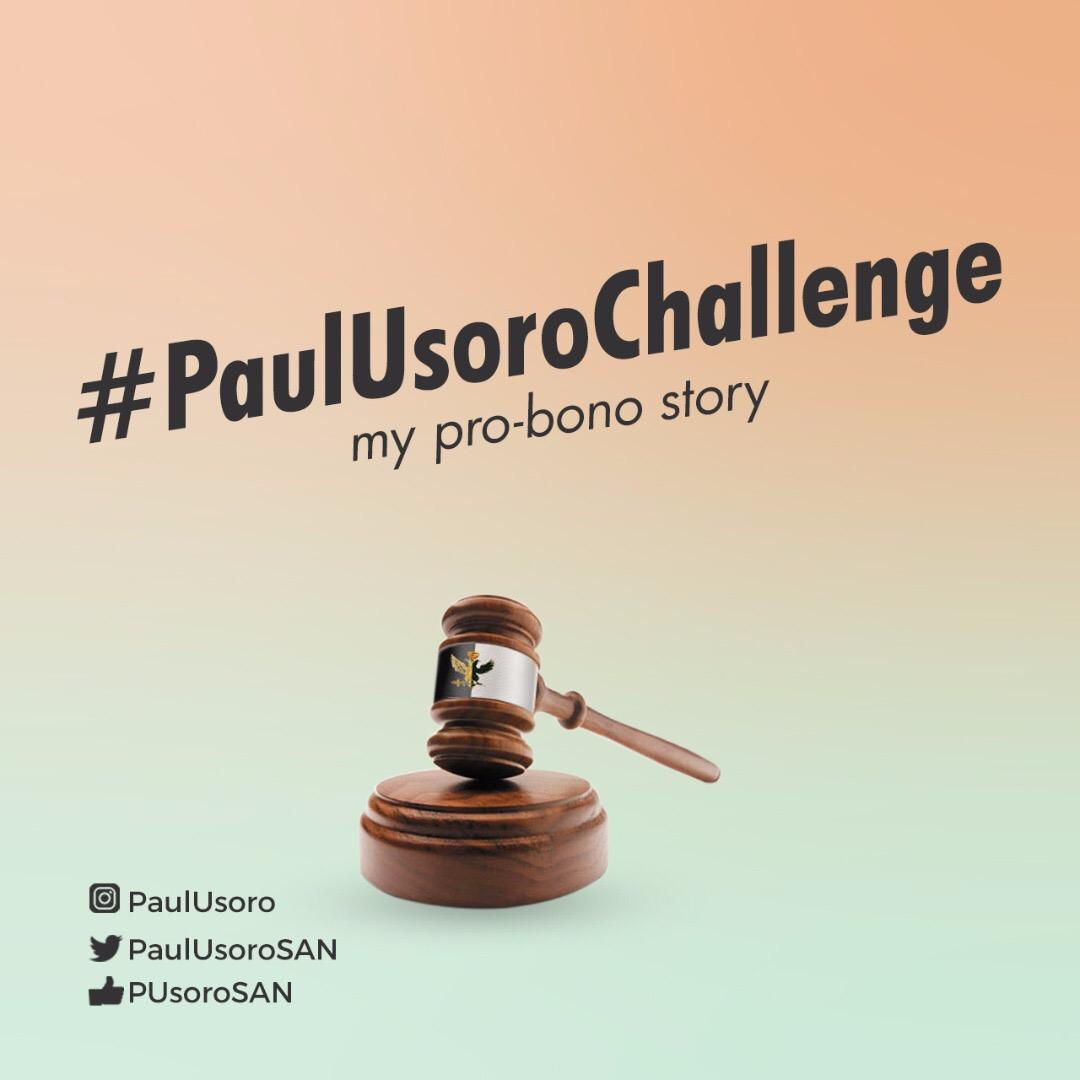WIN 100k via #PAULUSOROCHALLENGE - My Pro Bono Story ~ The
