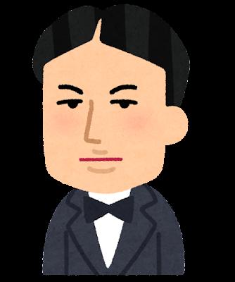 八田與一の似顔絵イラスト