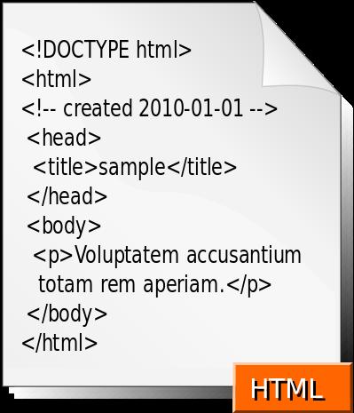 شكل الصفحه المكتوبة بلغة html