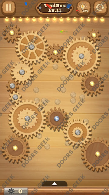 Fix it: Gear Puzzle [ToolBox] Level 11 Solution, Cheats, Walkthrough for Android, iPhone, iPad and iPod