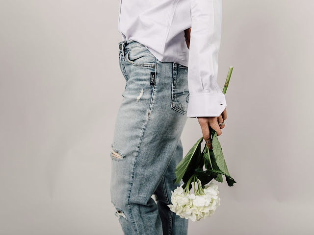 silver mom jeans