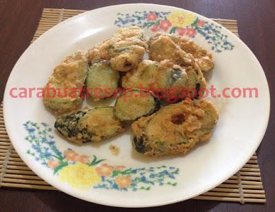 Foto Resep Zucchini Goreng Tepung Renyah Crispy Sederhana Spesial Asli Enak