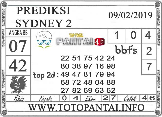 """Prediksi Togel """"SYDNEY 2"""" PANTAI4D 09 FEBRUARI 2019"""