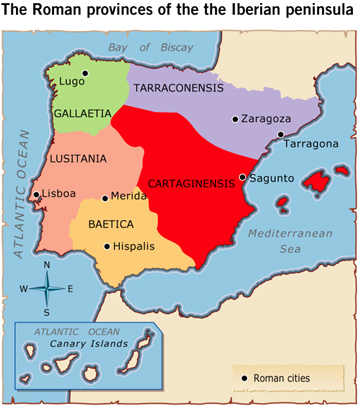 Image result for Romans in hispania provinces