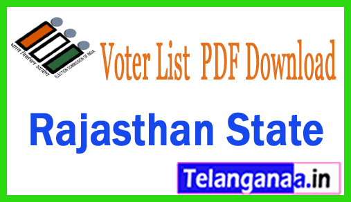 Rajasthan Voter List  PDF Download with Photos