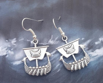 Viking Boat Earrings