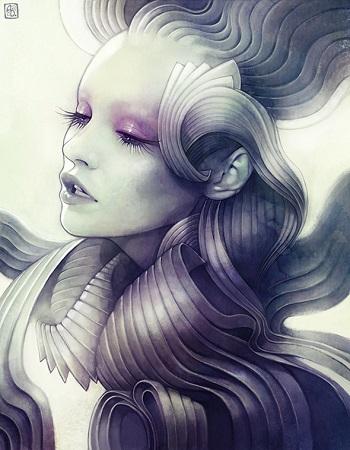 """Mantle"" por Anna Dittmann   imagenes lindas   dibujos   sad emotional drawings"