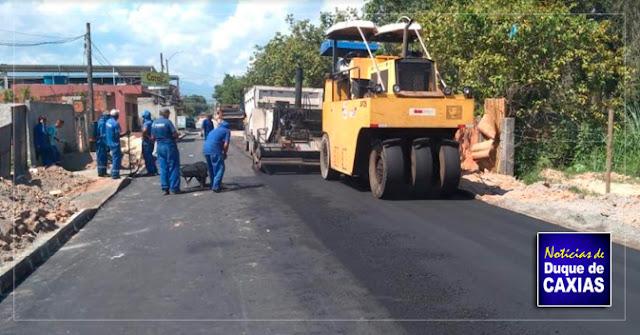 Programa de melhoria dos bairros de Caxias beneficia o quarto distrito