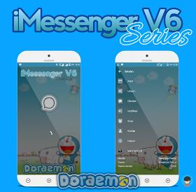 BBM MOD iMessenger V6 Series Doraemon BBM Base 3.0.1.25