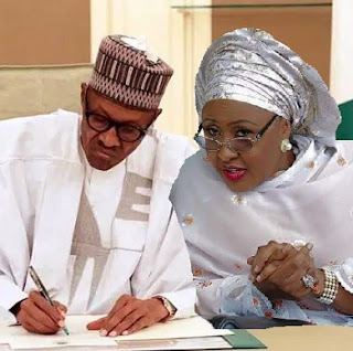 Muhammadu Buhari and Wife