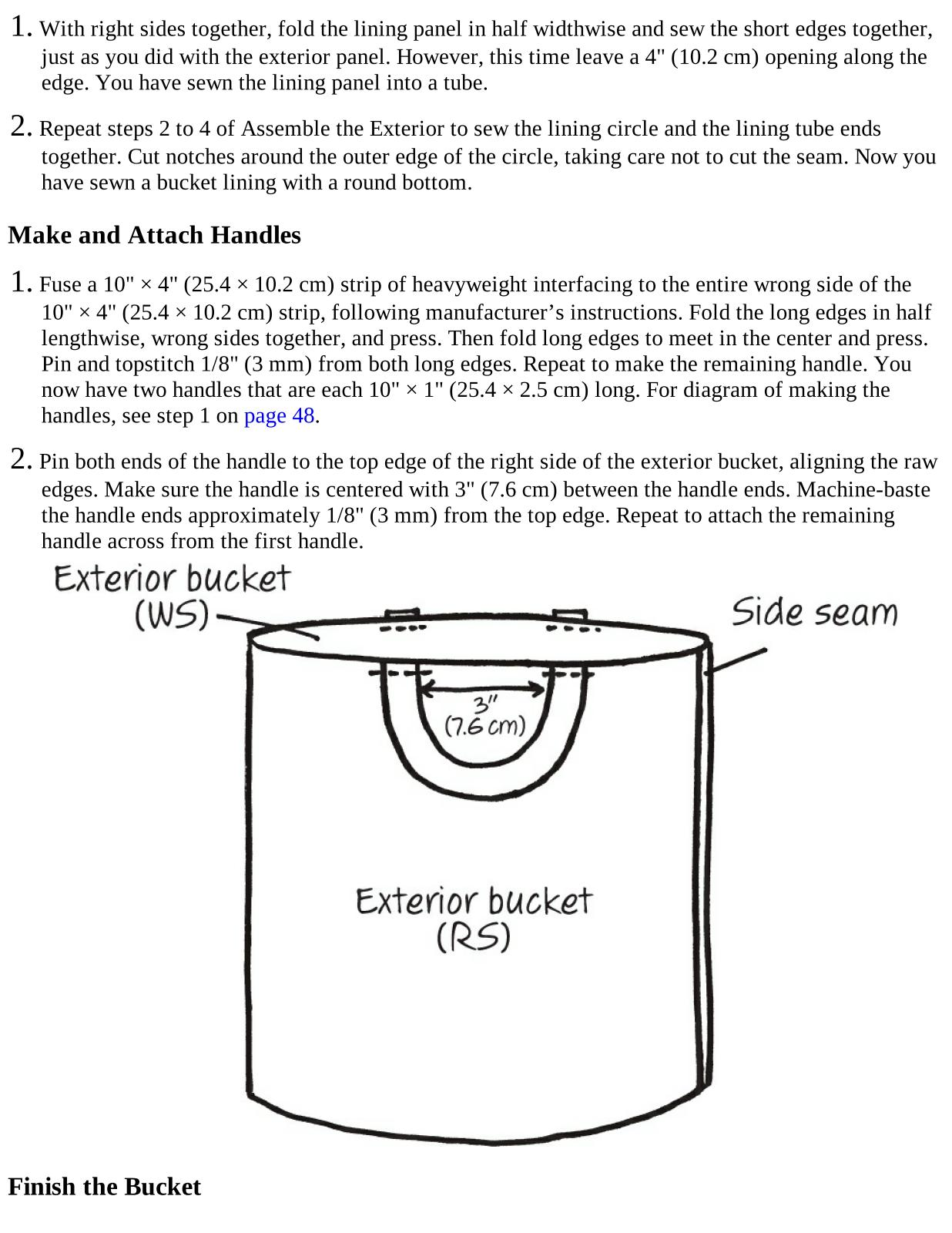 Fabric Bucket With Hangtag