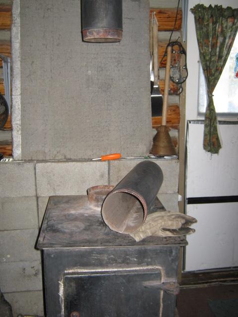 8 Pipe Damper Stove Wood