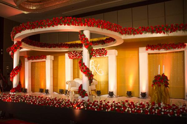 Florist flower decoration stage decor vehicle decor hotel crowne plaza kochi grand wedding stage decor junglespirit Image collections