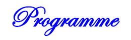 Programme プログラム