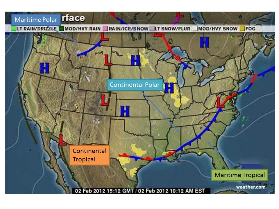 Daily Weather Maps Geography 341: A Daily Weather Observation Journal: Maps and Images Daily Weather Maps