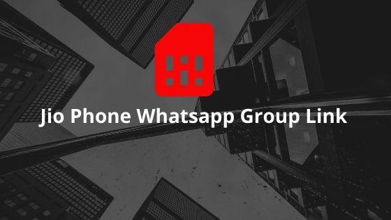 Jio Phone Whatsapp Group Link Join