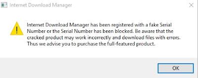 Cara Mengatasi IDM Fake Serial Number Update Terbaru