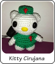 Amigurumi Hello Kitty cirujana