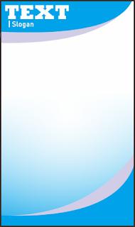 Desain kop surat biru