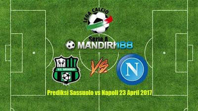 AGEN BOLA - Prediksi Sassuolo vs Napoli 23 April 2017