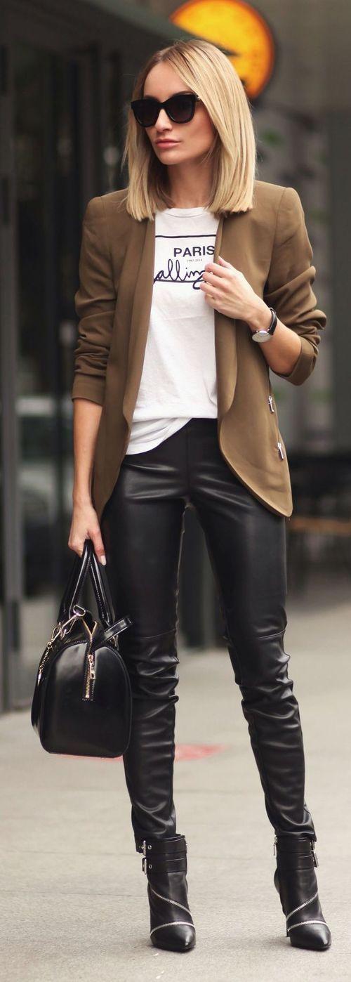 Veston pantalon cuir
