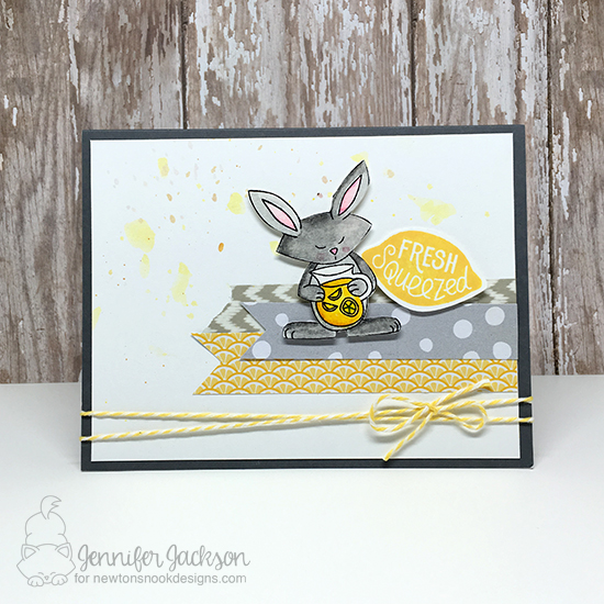 Fresh Squeezed Lemonade card by Jennifer Jackson | Freshly Squeezed stamp set by Newton's Nook Designs #newtonsnook