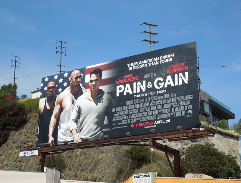 Pain Gain movie billboard