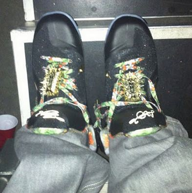 """e5f4644359c ... the Nike LeBron 9 """"Watch The Throne"""" Sneaker rumored to be limited to  only 3 pairs. Check out a gang of images including a look on feet after the  jump."""