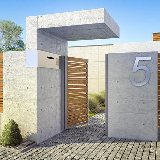 18 ide desain pintu pagar rumah minimalis