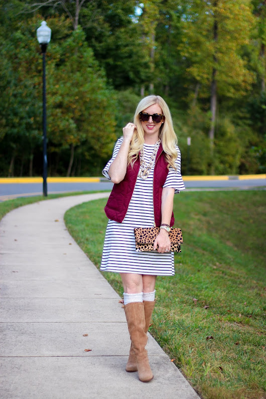 Stripe Dress & Puffer Vest + Best Columbus Day Sales to Shop