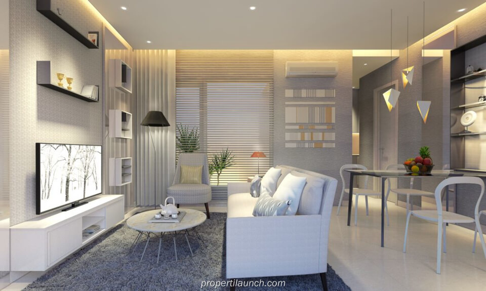 Interior Design Living Room Rumah Savasa Panasonic Tipe 6x11