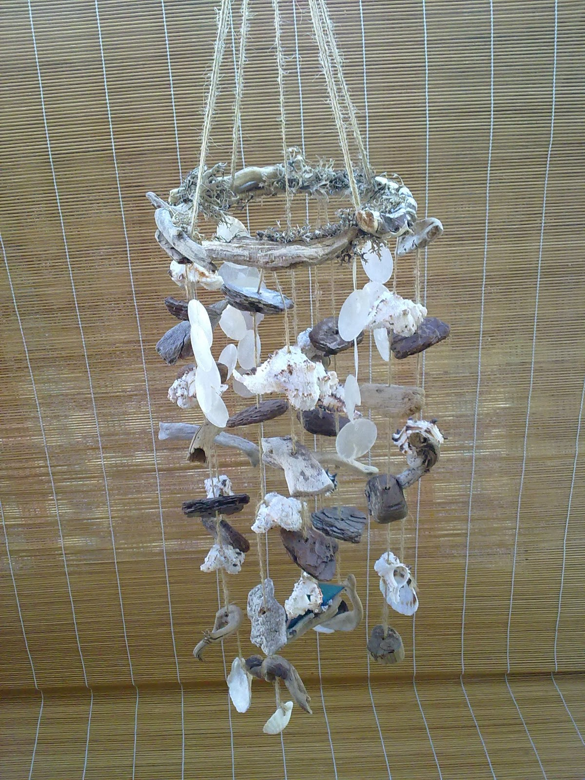Nature Of The Sea Driftwood N Seashell Wind Chimes