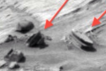 Oval building on Mars With Tinted Windows In NASA Photo.