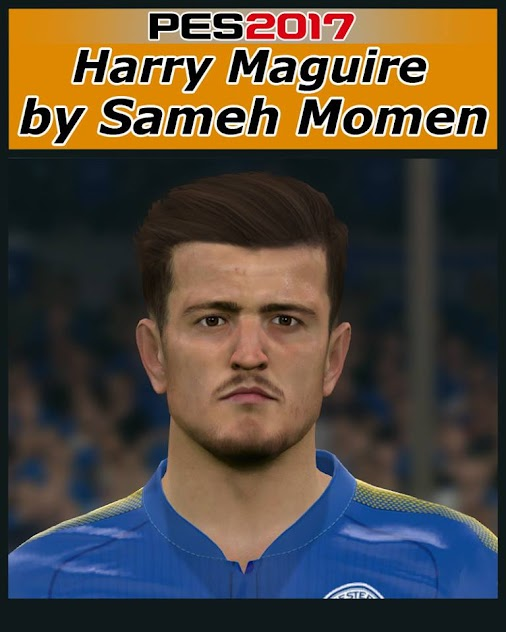 PES 2017 Harry Maguire (Leicester, England NT) Face CREDITS: Sameh Momen DOWNLOAD