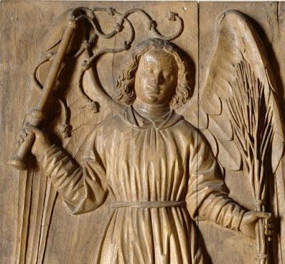 pasion flagelacion de cristo azote latigo medieval angel talla madera louvre