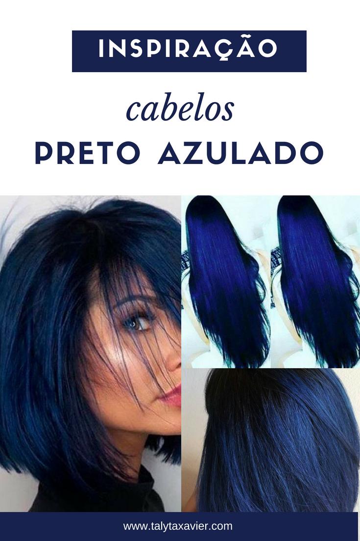 Inspiração Cabelos Preto Azulado Desvendando Segredos Com