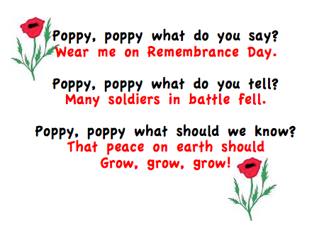 The Kids Used This Poem To Practice Their Printing Today You Can Get A Copy Of It HERE