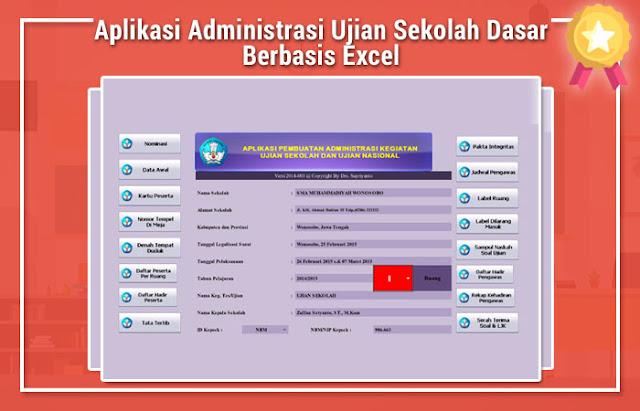 Aplikasi Administrasi Ujian Sekolah Dasar Berbasis Excel