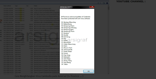 Cara Menghilangkan Virus Cambodia pada AutoCad (24 Province .... )