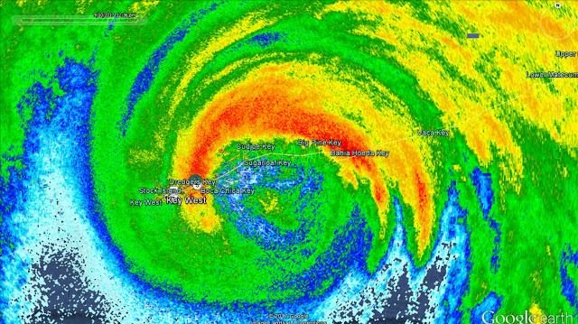 Eye Of Hurricane Irma Passing Over Florida Keys - HI Res Radar Animation...