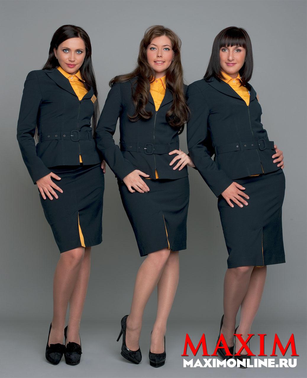 Avianova Stewardesses Strip Off For Nude In Maxim Russia -5660