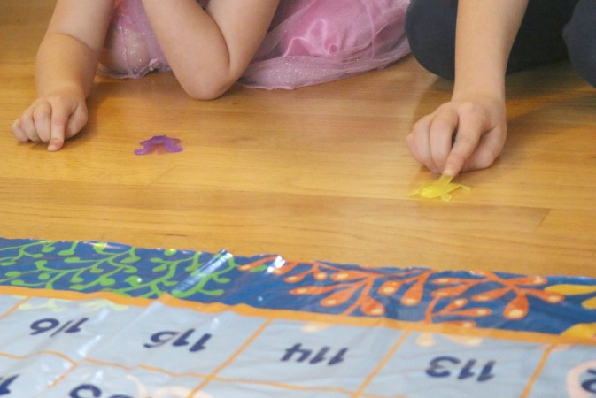 jumping frogs math game